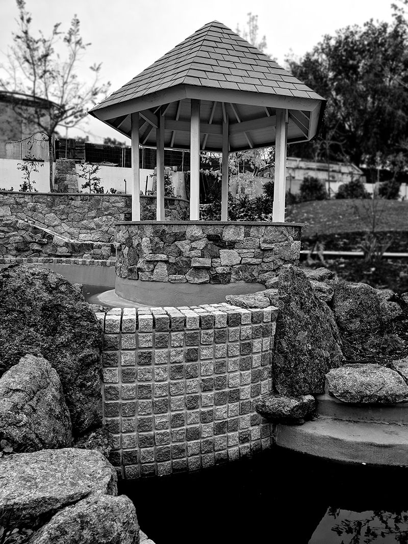 Granite stone features, water features stone masons